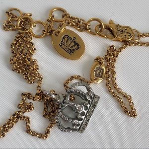 Juicy couture crown gold tone necklace